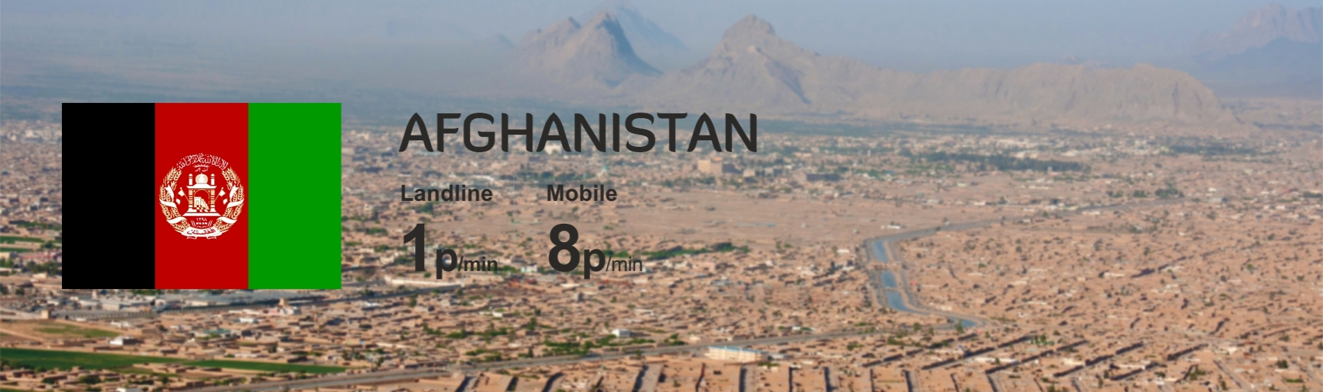 Best Calling Rates for Afghanistan